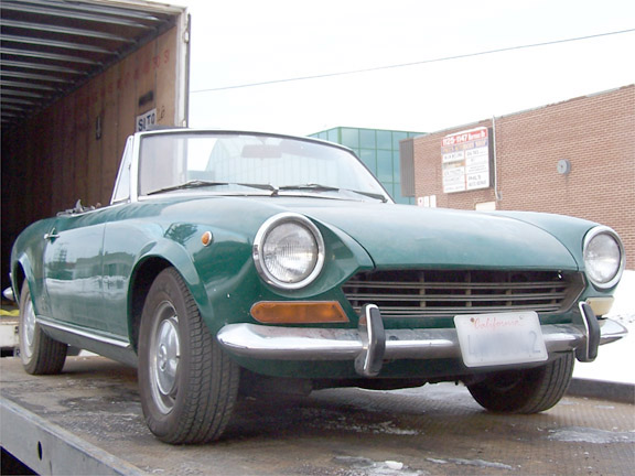 1968 Fiat Spider Arrives for Restoration